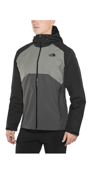 The North Face Stratos Jacket Men Asphalt Grey/Fusebox Grey/TNF Black